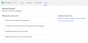 What is SEO? It's using Keyword Planner to find the optimal keywords for your web pages
