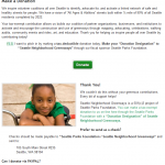 Previous version of Donation page for Greenways safe neighborhood streets nonprofit