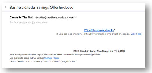example showing spam email lengths are always too short